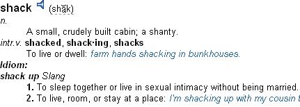 shack up